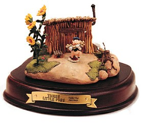 WDCC Disney Classics_Three Little Pigs Fiddler Pig Stick House