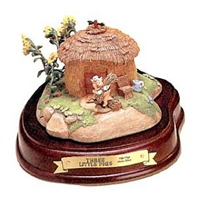 WDCC Disney Classics_Three Little Pigs Fifer Pig Straw House