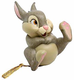 WDCC Disney Classics_Bambi Thumper Belly Laugh Ornament