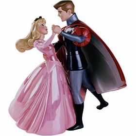 WDCC Disney Classics_Sleeping Beauty Princess Aurora And Prince Phillip A Dance In The Clouds (pink)