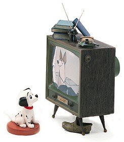 WDCC Disney Classics_One Hundred and One Dalmatians Lucky And Television