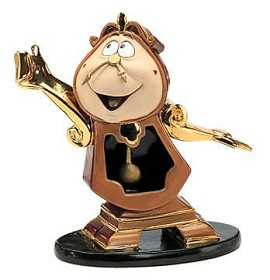 WDCC Disney Classics_Beauty And The Beast Cogsworth Just In Time