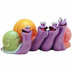 WDCC Disney Classics_The Little Mermaid Snails Sing-Along Snails