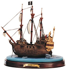WDCC Disney Classics_Peter Pan Captain Hook Ship Jolly Roger