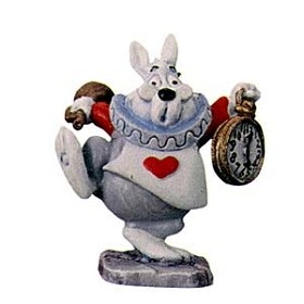 WDCC Disney Classics_Alice In Wonderland White Rabbit Miniature