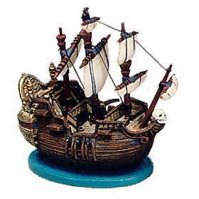 WDCC Disney Classics_Peter Pan Captain Hook Ship Ornament Jolly Roger Ornament