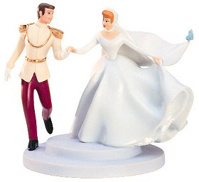 WDCC Disney Classics_Cinderella And Prince Cake Topper Fairy Tale Wedding