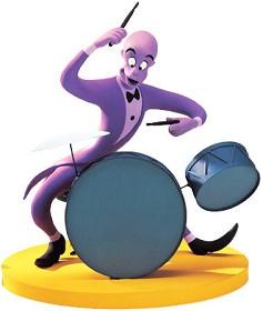 WDCC Disney Classics_Fantasia 2000 Duke Drumming Up A Dream