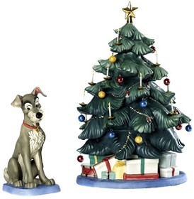 WDCC Disney Classics_Lady And The Tramp Tramp And Tree At Home For Christmas