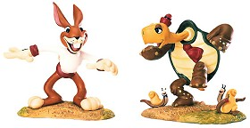 WDCC Disney Classics_The Tortoise And The Hare Max Hare & Toby Tortoise