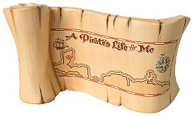 WDCC Disney Classics_Pirates Of The Caribbean A Pirates Life For Me Title Scroll