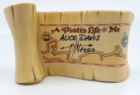 WDCC Disney Classics_Pirates Of The Caribbean A Pirates Life For Me Title Scroll Signed By Alice Davis, and Pacheo