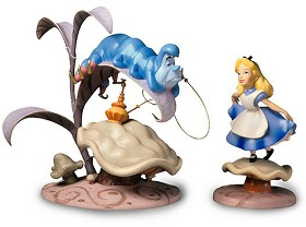 WDCC Disney Classics_Alice In Wonderland Caterpillar & Alice Who R U And Properly Polite