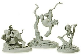 WDCC Disney Classics_Tarzan Tantor and, Terk Maquettes (matched numbered Set)