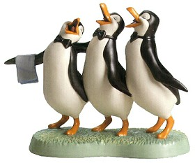 WDCC Disney Classics_Penguin Trio Anything for You, Mary Poppins From Mary Poppins
