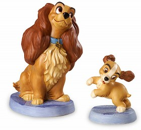 WDCC Disney Classics_Lady And The Tramp Lady And Puppy Welcome Home Artist Signed