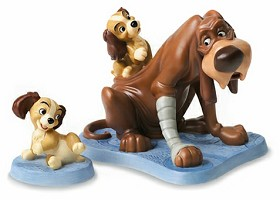 WDCC Disney Classics_Lady And The Tramp Trust And Puppy Old Dog, New Tricks & Playful Pup