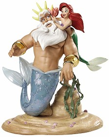 WDCC Disney Classics_King Triton & Ariel Morning, Signed Daddy From The Little Mermaid