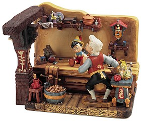 WDCC Disney Classics_Pinocchio Geppettos Workshop The Finishing Touch