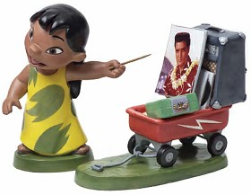 WDCC Disney Classics_Lilo And Stitch Lilo And Wagon Elvis Presley Was A Model Citizen
