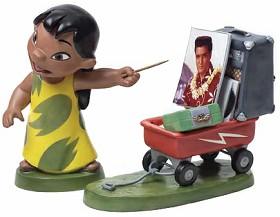 WDCC Disney Classics_Lilo And Stitch Lilo And Wagon Elvis Presley Was A Model Citizen