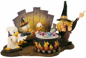 WDCC Disney Classics_Trick Or Treat Witch Hazel Brewing Up Trouble Complete Set