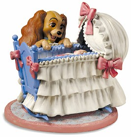 WDCC Disney Classics_Lady And The Tramp Lady And Cradle Welcome Little Darling