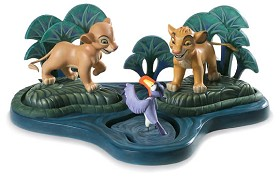 WDCC Disney Classics_The Lion King Simba Nala Zazu And Base
