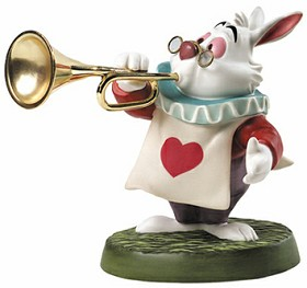 WDCC Disney Classics_Alice In Wonderland White Rabbit Royal Fanfare
