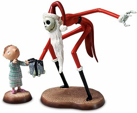 WDCC Disney Classics_The Nightmare Before Christmas Santa Jack And Timmy A Ghoulish Gift