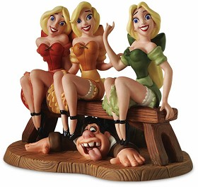 WDCC Disney Classics_Village Girls & LeFou Sitting Pretty From Beauty and The Beast