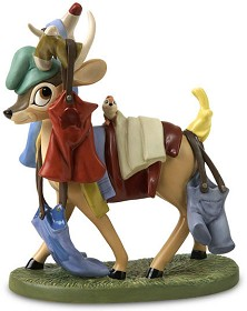 WDCC Disney Classics_Snow White Deer With Laundry Spring Cleaning