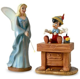 WDCC Disney Classics_Pinocchio Blue Fairy And Pinocchio The Gift Of Life Is Thine