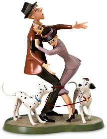 WDCC Disney Classics_One Hundred and One Dalmatians Roger And Anita And Pongo And Perdita Tangled Up Romance