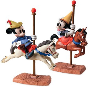 WDCC Disney Classics_Brave Little Taylor Mickey And Minnie Mouse Carousel Sweethearts