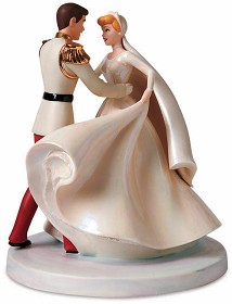 WDCC Disney Classics_Cinderella & Prince Charming Cake Topper Happily Ever After