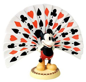 WDCC Disney Classics_Thru The Mirror Mickey Mouse Playing Card Plumage