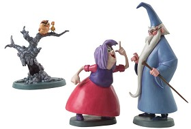 WDCC Disney Classics_The Sword In The Stone Merlin Archimedes Wart And Madam Mim
