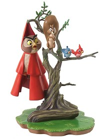 WDCC Disney Classics_Sleeping Beauty Woodland Creatures On Tree Witness To Romance