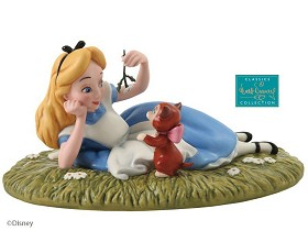 WDCC Disney Classics_Alice In Wonderland Alice And Dinah Riverbank Reverie
