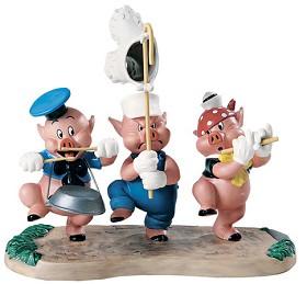 WDCC Disney Classics_Three Little Pigs Triumphant Trio