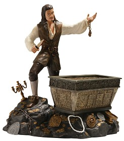 WDCC Disney Classics_Pirates Of The Caribbean Will Turner And Treasure Chest Bloodstained Bravado