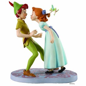 WDCC Disney Classics_Peter Pan Peter, Wendy And Tinker Bell: I'm So Happy, I Think I'll Give You A Kiss