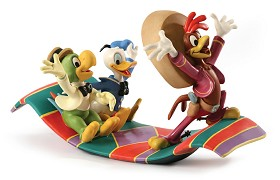 WDCC Disney Classics_Three Caballeros Panchito, Donald and Jose Airborne Amigos