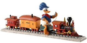 WDCC Disney Classics_Out of Scale Donald Duck on Train Backyard Whistle Stop