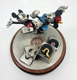 WDCC Disney Classics_Mickey and Minnie Jitterbugging Pewter Sculpture