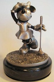 Disney Chilmark_What birdie Minnie golfing pewter figure