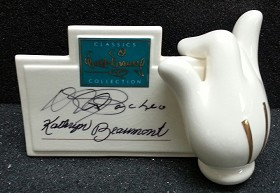 WDCC Disney Classics_Mickey's Glove Signature Plaque Signed By Kathryn Beaumont And Pacheo