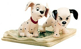 WDCC Disney Classics_One Hundred and One Dalmatians Two Puppies On Newspaper