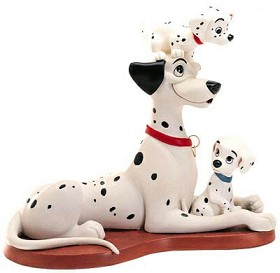 WDCC Disney Classics_One Hundred and One Dalmatians Proud Pongo W/pepper & Penny